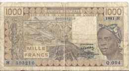 WAS Niger - 1000 Franchi 1981 - P.307C A - Niger