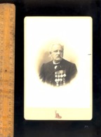 Photographie Cabinet : Médaillé Militaire 11 Médailles Médaille Guerre 1870? Ancre Marine / Atelier Du Louvre PARIS - War, Military