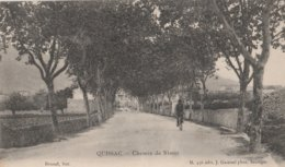 CPA 30 QUISSAC CHEMIN DE NIMES  CYCLISTE - Quissac
