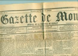 Journal Belgique ' La Gazette De Mons 21.04.1905  ' Authentique - Journaux - Quotidiens