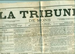 Journal Belgique ' La Tribune De Mons  22.06.1891  ' Authentique - Zeitungen