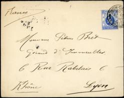 "1909 N° 104 Cancellation 'VICTORIA 19/JY/09 HONG KONG"" On A Cover To Lyon (France), On The Back ""LYON 17/08/09 RHONE"" - Hong Kong (...-1997)"