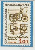 Image Du Centenaire De L'Automobile_Delamare-Deboutteville-Malandin 1884-1984_Voir Scan Details Au Verso - Cars