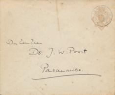 Curacao - 1927 - 7,5 Cent Wilhelmina, Envelop G17 Van KB Curacao Naar KB Paramaribo - Curaçao, Nederlandse Antillen, Aruba