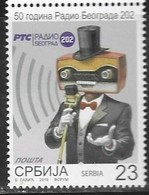 SERBIA, 2019, MNH, RADIO, 50th ANNIVERSARY OF RADIO BELGRADE,1v - Stamps
