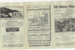 VILLE VALLOUISE-PELVOUX - HAUTES ALPES ED. 1927 -Ville Vallouise Le Poët Ailfroide  BRIANCONNAIS - Folletos Turísticos