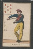 """Carte A Jouer Ancienne - Fin 18° ? Debut 19° Siecle ? """" Huit De Carreau , Le Violon """" Dos Vierge -  10 Importun Empire ? - Cartes à Jouer Classiques"""
