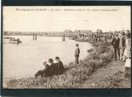 CPA - MONTIGNY EN GOHELLE - Le Lac - Embarcadère En Canot Automobile, Animé - France