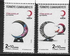 TURKEY, 2019, MNH,TURKISH RED CRESCENT, 150th ANNIVERSARY OF RED CRESCENT, MEDICINE, ORGANIZATIONS, TURK KIZILAY,2v - Other