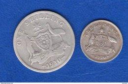 Australie 2  Pieces  1910  Arg - Monnaie Pré-décimale (1910-1965)
