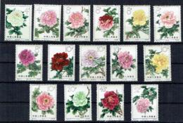 CHINE - N°1552/1566 **  - PIVOINES De 1964 - Série Complète De 15 Valeurs - MNH - Nuovi