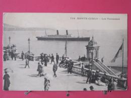 Visuel Pas Très Courant - Monaco - Monte Carlo - Les Terrasses - 1914 - Scans Recto Verso - Terrassen