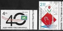 TURKISH CYPRUS , 2019, MNH, PHILATELIC ASSOCIATION, STAMP EXHIBITION,2v - Philatelic Exhibitions