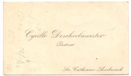Visitekaartje - Carte Visite - Pastoor Cyrille Deschoolmeester - Assebroek - Cartoncini Da Visita