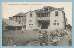 BA0293  Post Card   (SIERRA-LEONE) FREETOWN - The Police Station  - Animation  +++++ - Sierra Leone