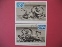 Carte Maximum 1952  N° 938 Et 939 Cachet Château De Versailles - Au Profit De La Croix Rouge - 1950-59
