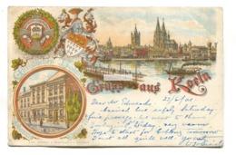 Gruss Aus Koeln, Koln, Cologne - 1901 Used Germany Postcard - Koeln
