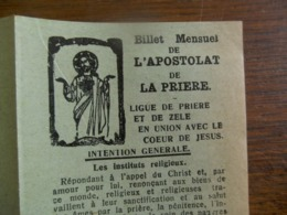 Billet De L'Apostolat De La Priere 1932    Liguede Priere Et De ZELE - Zele