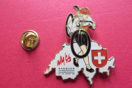 Pin's,Sport,Velo,WM 95,Cycliste,Bike,CONTOUR SUISSE Croix - Cyclisme