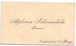 Visitekaartje - Carte Visite - Brouwer Alphonse Schaeverbeke - Brugge - Cartoncini Da Visita