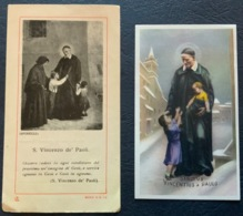 "Antico Santino - Holy Card "" S. VINCENZO De' PAOLI ""  Ed AC 13 - Religione & Esoterismo"