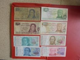 ARGENTINE LOT DE 8 BILLETS (B.7) - Munten & Bankbiljetten