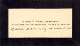 Visitekaartje - Carte Visite - Alfred Verougstraete - Brugge - Cartes De Visite