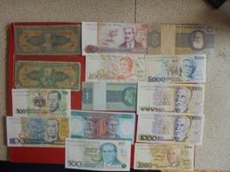 BRESIL LOT DE 14 BILLETS (B.7) - Munten & Bankbiljetten