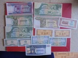CAMBODGE LOT DE 13 BILLETS (B.7) - Munten & Bankbiljetten
