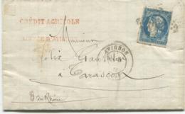 AVIGNON (Vaucluse) 20c. Bordeaux (n° 45) Oblitéré Gros Chiffres + Cachet Type 17 - 1849-1876: Classic Period