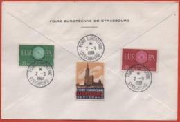 Foire Européenne Strasbourg 1961 Vignette - Poststempel (Briefe)