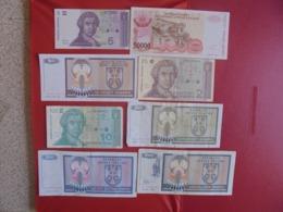 CROATIE LOT DE 8 BILLETS (B.7) - Munten & Bankbiljetten
