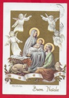CARTOLINA VG ITALIA - BUON NATALE Sacra Famiglia - ZANDRINO - AR CF 13 N 4 - 10 X 15 - 1963 - Altri