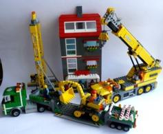 FIGURINE LEGO CITY 7633 CONSTRUCTION DE SITE CAMION GRUE IMMEUBLE MONTE CHARGE SEMI DE TRANSPORT ET PELLETEUSE - Poppetjes