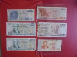 GRECE LOT DE 6 BILLETS (B.7) - Munten & Bankbiljetten