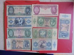 HONGRIE LOT DE 9 BILLETS (B.7) - Munten & Bankbiljetten