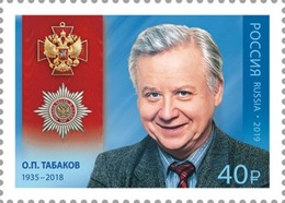 Russia, 2019,  O.Tabakov, Actor, 1 Stamp - Ungebraucht