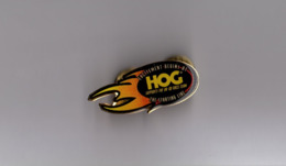 Pin's Harley Davidson / Excitement Begins At The Starting Line - Support The HD Race Team (époxy Double Attache) - Motos