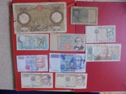 ITALIE LOT DE 10 BILLETS (B.7) - Mezclas - Billetes