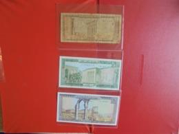 LIBAN LOT DE 3 BILLETS (B.7) - Coins & Banknotes