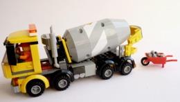 FIGURINE LEGO CITY 60018 CAMION BETONNIERE Avec Notice - Figurines
