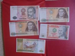 PEROU LOT DE 5 BILLETS (B.7) - Munten & Bankbiljetten