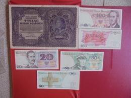POLOGNE LOT DE 6 BILLETS (B.7) - Munten & Bankbiljetten