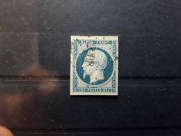 Presidence Louis Napoleon, Yvert No 10 , 25 C Bleu Obl Pc 2208 De MURO ,Corse Indice 15 ,TB Peu Courant - 1852 Louis-Napoléon