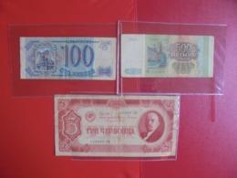 RUSSIE LOT DE 3 BILLETS (B.7) - Coins & Banknotes