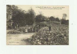 72 - LA CHAPELLE SAINT AUBIN - Ce Qui Reste De L'église Aprés Incendie Du 23 02 1916 Animé - France