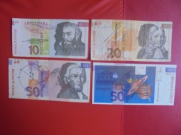 SLOVENIE LOT DE 4 BILLETS (B.7) - Munten & Bankbiljetten