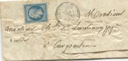 JONCQUIERES (Vaucluse) 20c.Empire ND (N° 14) Oblitéré Petits Chiffres + Cachet à Date Type 22 - Storia Postale