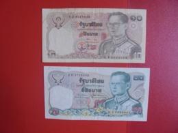 THAILANDE LOT DE 2 BILLETS (B.7) - Munten & Bankbiljetten