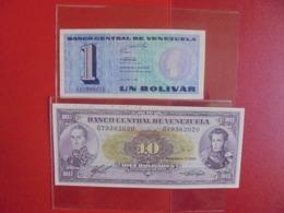 VENEZUELA LOT DE 2 BILLETS (B.7) - Munten & Bankbiljetten